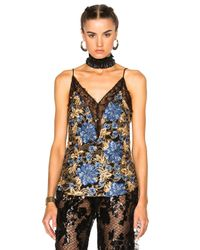 Rodarte   Blue Embroidered Floral Lace Camisole   Lyst