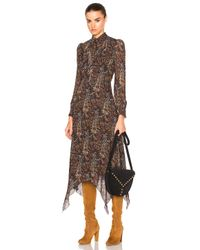 Saint Laurent | Brown Paisley Vintage Long Dress | Lyst