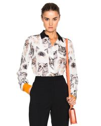 Stella McCartney | White Cat Print Blouse | Lyst
