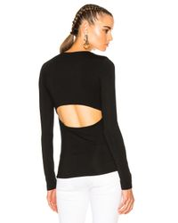 T By Alexander Wang | Black Modal Spandex Long Sleeve Tee | Lyst