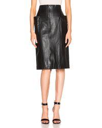 Tibi | Black High Waist Leather Skirt | Lyst