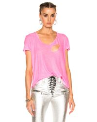 Unravel   Pink For Fwrd Basic Tee   Lyst