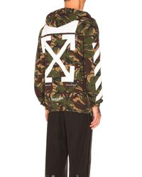 Off-White c/o Virgil Abloh Multicolor Zipped Hoodie In Camouflage