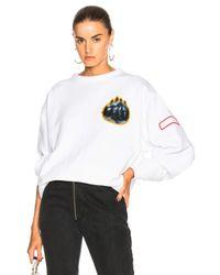 Acne - White Fire Capsule Sweatshirt - Lyst
