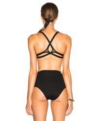 Ephemera - Black Twist Back Bikini Top - Lyst