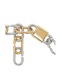 Alexander Wang - Metallic Broken Link Double Lock Necklace - Lyst