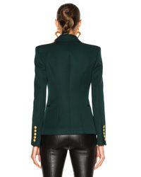 Balmain - Green Double Breasted Blazer - Lyst