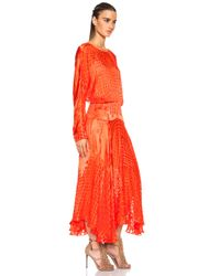 Preen By Thornton Bregazzi - Red Ryde Viscose-Blend Dress - Lyst