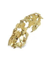 Bernard Delettrez | Metallic Goldtone Butterflies Articulated Bronze Ring | Lyst