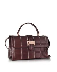Rodo | Purple Burgundy Nappa Leather Lunch Bag | Lyst
