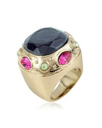 AZ Collection - Blue Large Crystal Stone Ring - Lyst