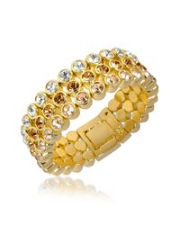 AZ Collection - Metallic Three-tone Crystal Bracelet - Lyst