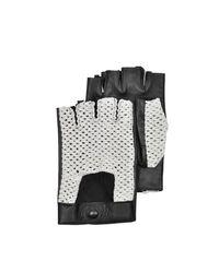 Forzieri - Multicolor Herren-Handschuhe aus Leder und Baumwolle in schwarz for Men - Lyst