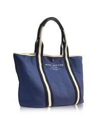 Marc Jacobs - Midnight Blue Canvas Ew Tote - Lyst