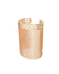 Rebecca - Melrose Yellow Gold Over Bronze Mesh Bracelet - Lyst