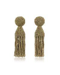 Oscar de la Renta - Metallic Classic Short Tassel Clip-on Earrings - Lyst