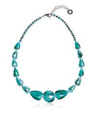 Antica Murrina - Blue Marina 2 Basic - Turquoise Green Murano Glass And Silver Leaf Choker - Lyst