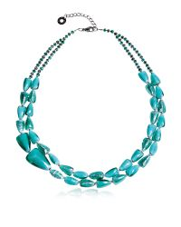 Antica Murrina | Blue Marina 1 Double - Turquoise Green Murano Glass And Silver Leaf Necklace | Lyst