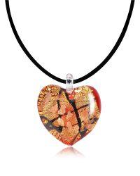 Antica Murrina | Passione - Red Gold And Black Murano Glass Heart Pendant | Lyst