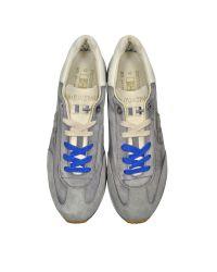 D'Acquasparta - Leonardo Gray Fabric And Suede Sneaker for Men - Lyst