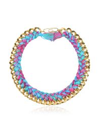 Aurelie Bidermann | Blue Do Brasil Gold And Cotton Necklace | Lyst
