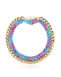 Aurelie Bidermann | Multicolor Do Brasil Gold And Cotton Necklace | Lyst