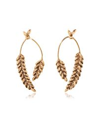 Aurelie Bidermann | Metallic Wheat Gold Plated Earrings | Lyst