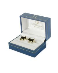 AZ Collection - Metallic Scottie Enamel Gold Plated Cuff Links for Men - Lyst