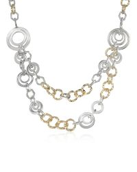 AZ Collection - Metallic Crystal Chain Opera Necklace - Lyst
