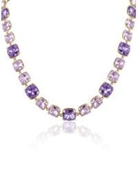 AZ Collection | Metallic Amethyst Crystal Necklace | Lyst