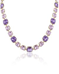AZ Collection | Purple Amethyst Crystal Necklace | Lyst