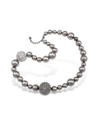 AZ Collection | Metallic Mirror Polished Ball Necklace | Lyst