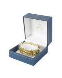 AZ Collection - Metallic Three-tone Crystal Bracelet - Lyst