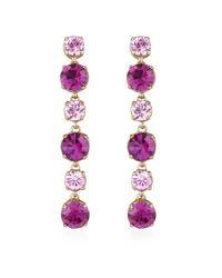 AZ Collection - Metallic Pink & Amethyst Drop Earrings - Lyst
