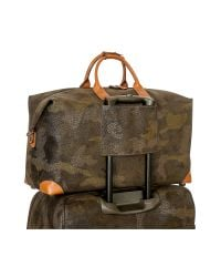 Bric's - Life Camouflage Military Green Micro Suede Carry On Holdall for Men - Lyst