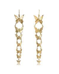 Bernard Delettrez | Metallic Butterflies Bronze Earrings | Lyst
