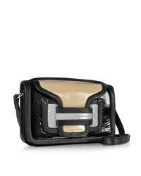 Pierre Hardy - Black Color Block Patent Leather Alpha Crossbody Clutch - Lyst