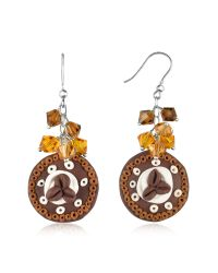 Dolci Gioie | Brown Chocolate Cake Earrings | Lyst