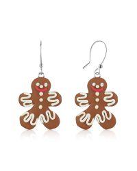 Dolci Gioie - Brown Gingerbread Man Earrings - Lyst