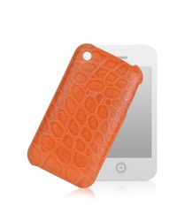 Giorgio Fedon - Orange Croco-stamped Leather Iphone 3 Case - Lyst