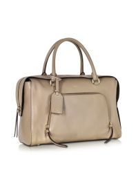 DKNY - Greenwich Natural Leather Large Satchel Bag - Lyst