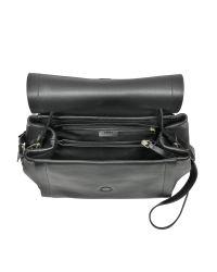 DKNY - Black Greenwich Smooth Leather Shoulder Bag - Lyst