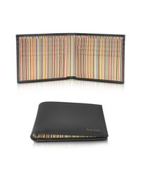 Paul Smith - Black Leather Signature Stripe Interior Billfold Men's Wallet for Men - Lyst
