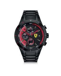 Ferrari - Red Rev Evo Black Stainless Steel Men's Chrono Watch for Men - Lyst