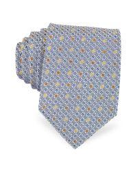 FORZIERI - Blue Bicolor Dots Woven Silk Tie for Men - Lyst