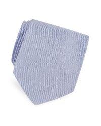 FORZIERI | Blue Solid Twill Silk Tie for Men | Lyst