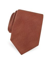 FORZIERI - Blue Gold Line Solid Woven Silk Tie for Men - Lyst