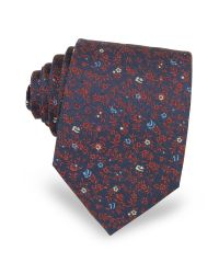 FORZIERI | Blue Micro Flower Woven Silk Men's Tie for Men | Lyst