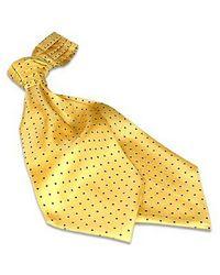 FORZIERI - Yellow Polkadots Silk Ascot for Men - Lyst