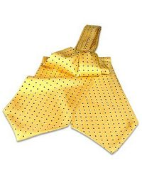 FORZIERI | Yellow Polkadots Silk Ascot for Men | Lyst